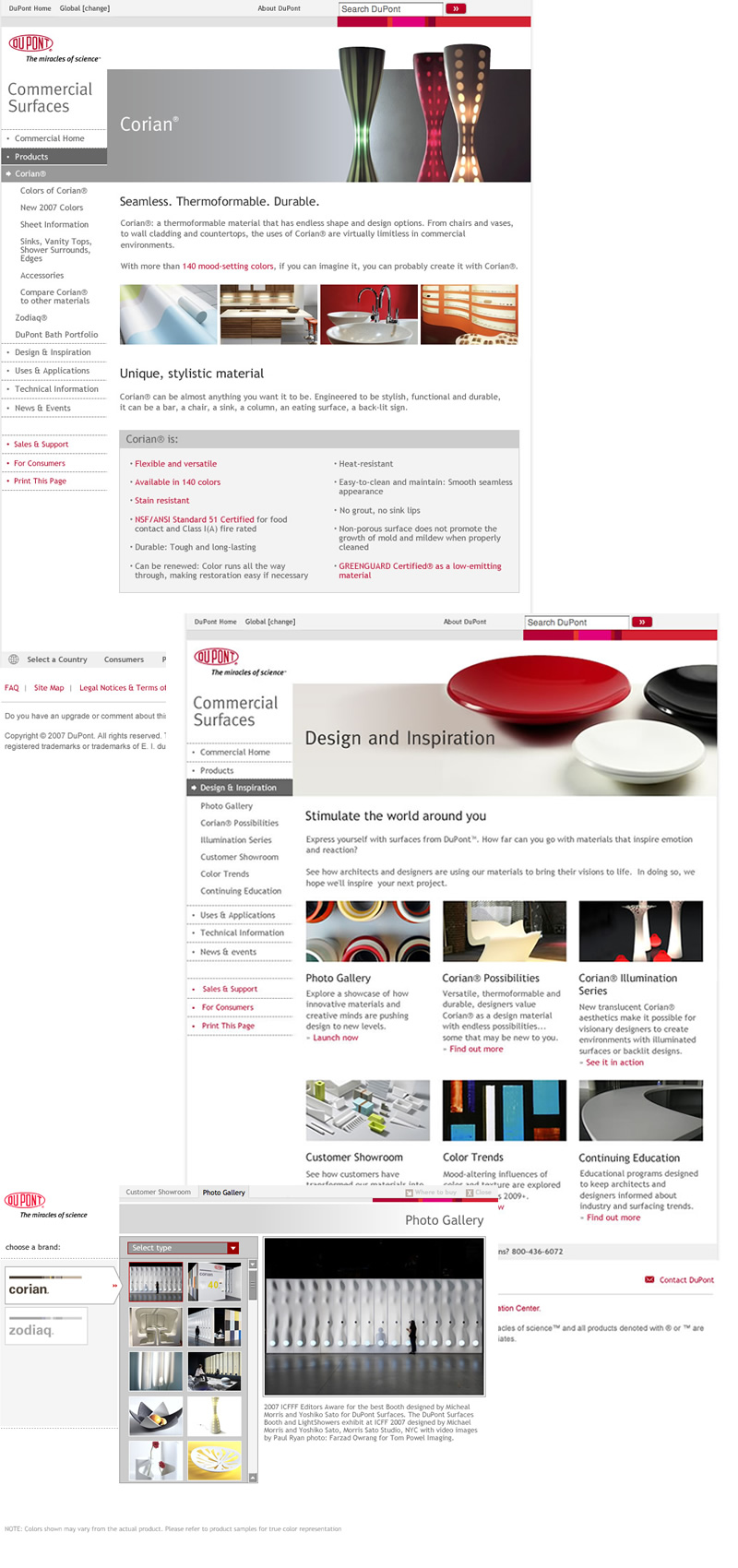 DuPont Commercial Surfaces - examples