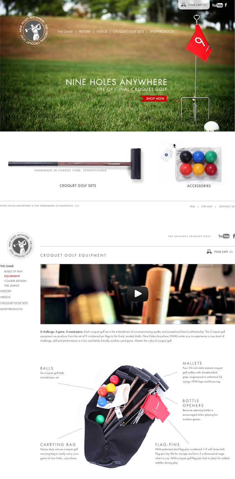 Nine Holes Anywhere - A e-commerce hole in one