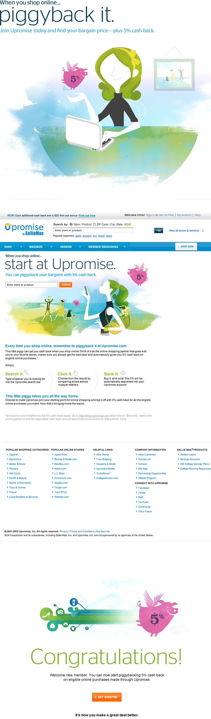 Upromise by Sallie Mae - Giving a brand its wings